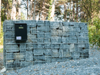 Gabions en parements semi-finis